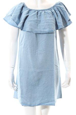 Zara Woman Jeanskleid himmelblau Casual-Look
