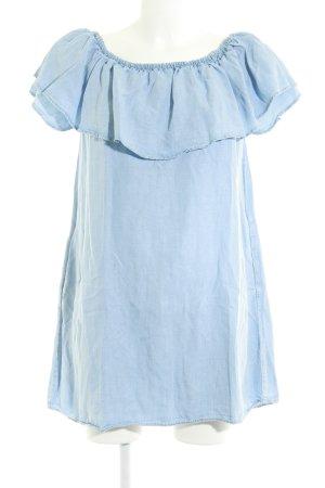 Zara Woman Jeanskleid himmelblau Jeans-Optik
