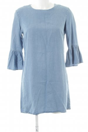 Zara Woman Jeansjurk azuur gestippeld elegant