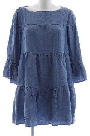 Zara Woman Jeanskleid stahlblau Street-Fashion-Look