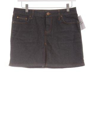 Zara Woman Jeansrock dunkelblau klassischer Stil