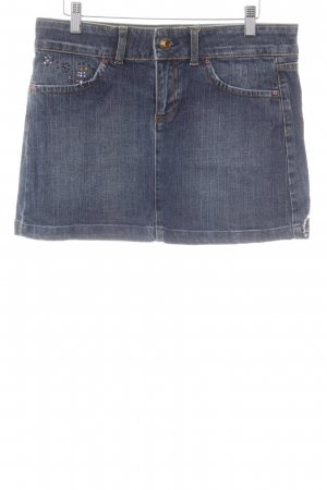 Zara Woman Jeansrock dunkelblau Washed-Optik