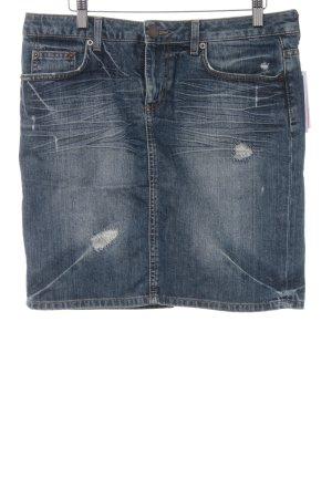Zara Woman Jeansrock graublau Casual-Look