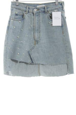 Zara Woman Jeansrock hellblau Casual-Look