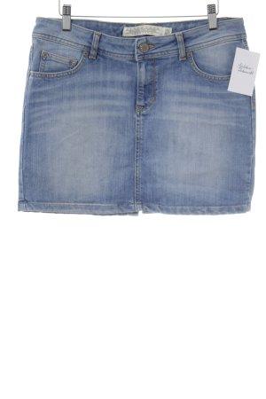 Zara Woman Jeansrock kornblumenblau-silberfarben schlichter Stil