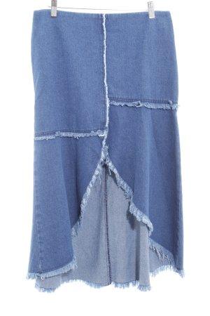 Zara Woman Jeansrock stahlblau Casual-Look
