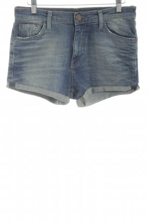 Zara Woman Jeansshorts blau Casual-Look