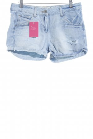 Zara Woman Jeansshorts hellblau Street-Fashion-Look
