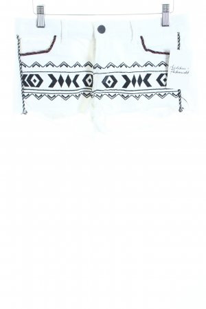 Zara Woman Jeansshorts weiß-schwarz Casual-Look