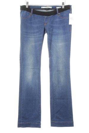 Zara Woman Jeggings blau Washed-Optik