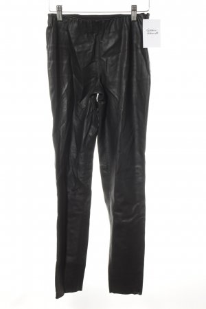 Zara Woman Jeggings schwarz Biker-Look