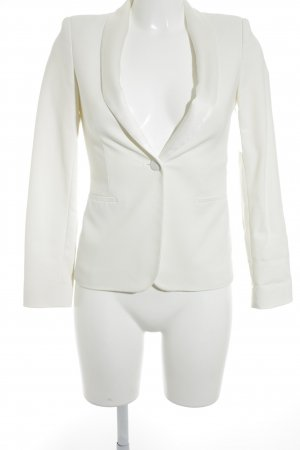 Zara Woman Jerseyblazer wollweiß Business-Look
