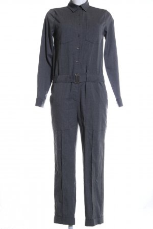 Zara Woman Jumpsuit hellgrau meliert Business-Look