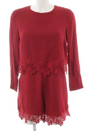 Zara Woman Jumpsuit dunkelrot Elegant