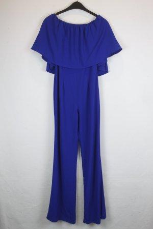 Zara Woman Jumpsuit blue polyester