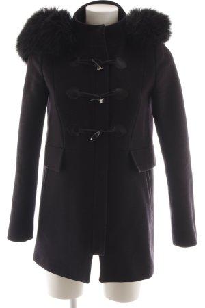 Zara Woman Hooded Coat black casual look