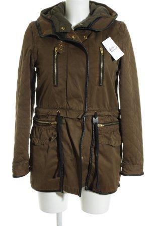 Zara Woman Manteau à capuche multicolore style décontracté