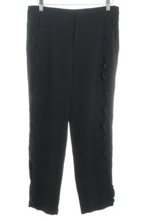 Zara Woman Pantalón de pinza alto negro elegante