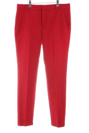 Zara Woman Pantalón de pinza alto rojo look casual