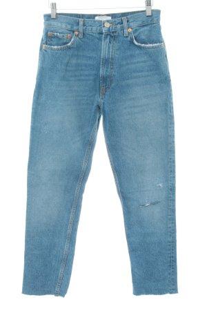 Zara Woman Jeans carotte bleu style décontracté