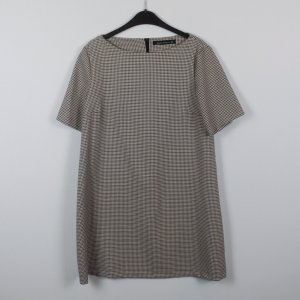 Zara Woman Kleid Gr. M Hahntritt beige/braun/schwarz