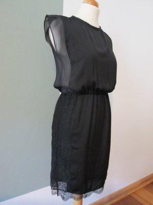 Zara Woman Kleid schwarz mit Spitze Gr. S