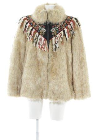 Zara Woman Kunstfelljacke Aztekenmuster extravaganter Stil