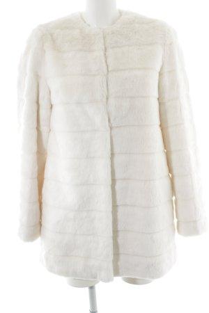 Zara Woman Fake Fur Jacket cream elegant