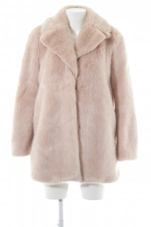 Zara Woman Kunstfelljacke rosé Casual-Look