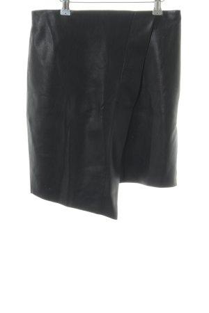 Zara Woman Faux Leather Skirt black casual look