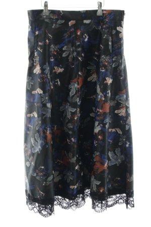 Zara Woman Gonna in ecopelle motivo floreale stile casual