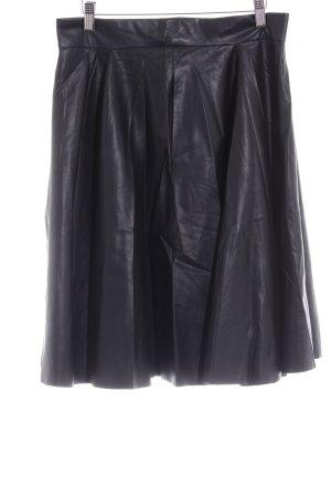 Zara Woman Kunstlederrock schwarz Elegant