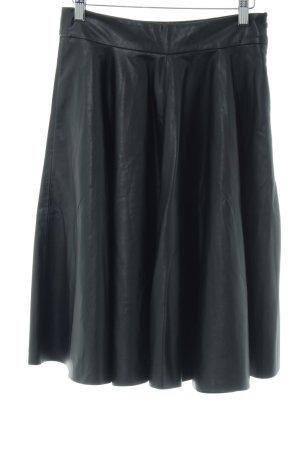 Zara Woman Gonna in ecopelle nero stile stravagante