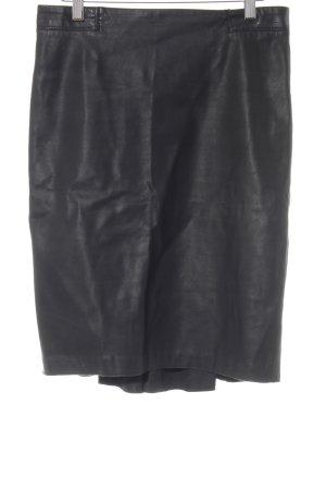 Zara Woman Kunstlederrock schwarz Lack-Optik