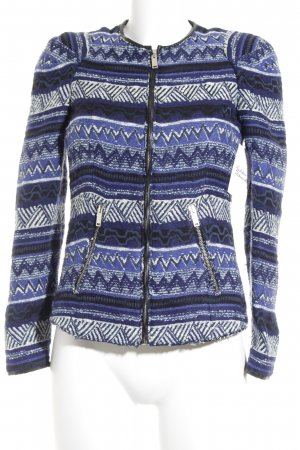 Zara Woman Kurz-Blazer abstraktes Muster Casual-Look