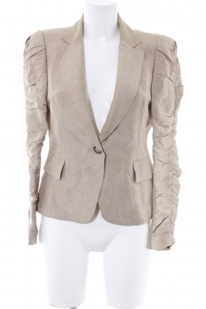 Zara Woman Kurz-Blazer beige Business-Look