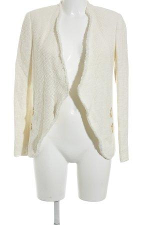Zara Woman Kurz-Blazer creme Elegant