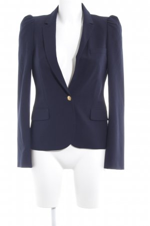 Zara Woman Kurz-Blazer dunkelblau Business-Look