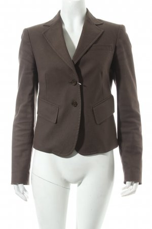 Zara Woman Kurz-Blazer dunkelbraun Street-Fashion-Look