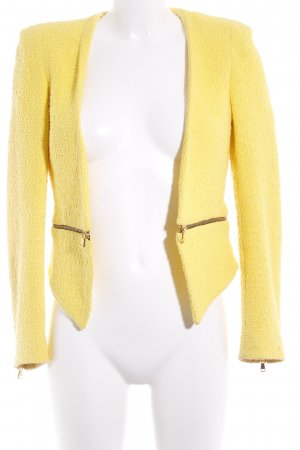 Zara Woman Kurz-Blazer gelb Street-Fashion-Look