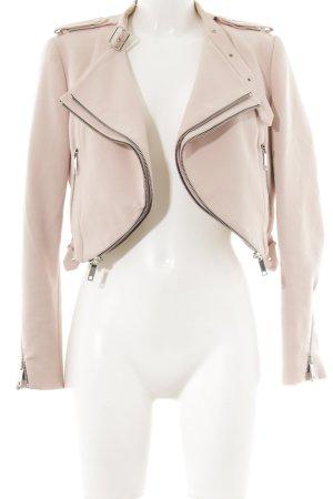 Zara Woman Kurz-Blazer mehrfarbig Biker-Look