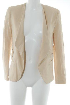 Zara Woman Kurz-Blazer nude schlichter Stil