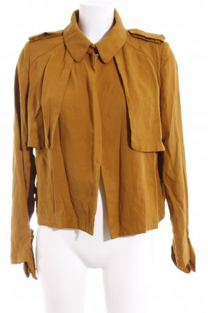 Zara Woman Kurz-Blazer sandbraun Casual-Look