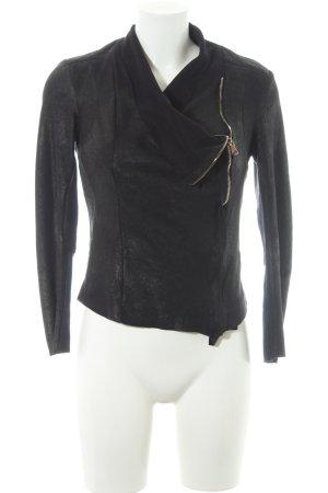 Zara Woman Blazer court noir style décontracté