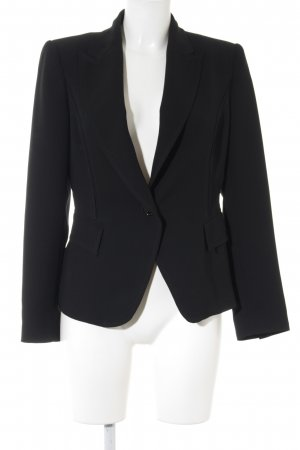 Zara Woman Kurz-Blazer schwarz-dunkelrot Business-Look