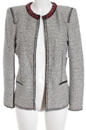 Zara Woman Kurz-Blazer weiß-schwarz meliert Elegant