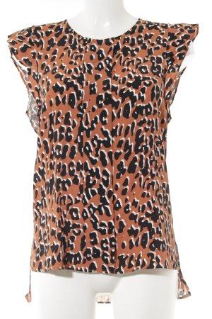 Zara Woman Kurzarm-Bluse Animalmuster Animal-Look