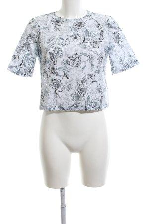 Zara Woman Kurzarm-Bluse Allover-Druck Elegant