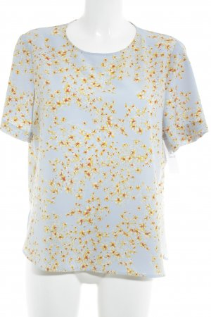 Zara Woman Kurzarm-Bluse florales Muster Casual-Look
