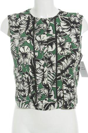 Zara Woman Kurzarm-Bluse florales Muster Romantik-Look
